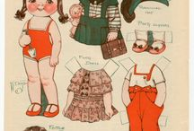 Vintage trekpop,aankleedpop
