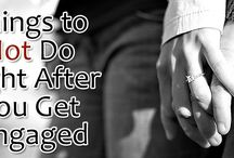 Things to Not Do Right After You Get Engaged / Make sure you don't commit one of these common mistakes right after you get engaged, take your time, sit down, relax and talk them through with your partner.  http://www.kimberleyandkev.com/things-right-get-engaged/