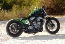 """Sportster Harley """"Bobber Vert"""" by Vida Loca Choppers / Sportster Harley Bobber Vert Designed by Vida Loca Choppers in 2008"""