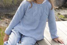 Girls knit and crochet