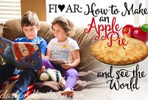 Five in a Row (How to make an apple pie and travel the world). FIAR