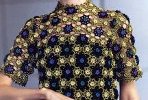 Crocheted shirt, blouse
