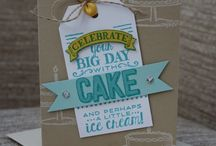Stampin up big day cake