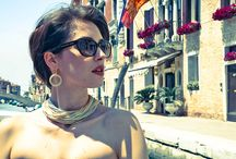One day in Venice - AuroraLurex® jewels / We spent an amazing day in Venice with our beautiful model Giuliana. She was wearing some pieces of AuroraLurex® collection, elegant jewels made with Lurex® yarns and silver 925