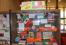 Hispanic Heritage Displays / A collection of photos of the Hispanic Heritage Displays we have had here at the John M. Pfau Library.