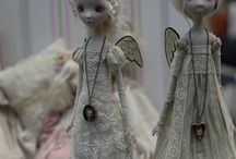 dolls and crafted figures