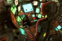 Futuristic Cockpit collection / Mecha / Aircraft cockpits and related