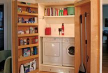 Washing machine cupboard