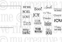 Small Talk / Inspiration for this stamp set!