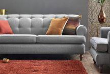 grey sofas & cushions