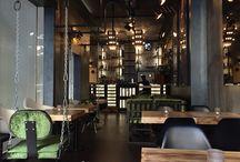 Goodfellas frankfurt / Industrial chic, industrial design, wall art, shabby chic, interior design, restaurant design, bar design, modern bar, cement walls, beton walls, mirrors, light design
