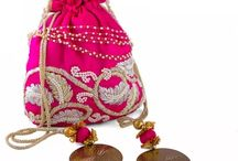 Potli Bags - Arm  Candy | Ethnic bags / Everyone loves some arm candy to carry essentials in style. Exquisite Indian ethnic bags, potli bags or string bags. Perfect with your ethnic wear!