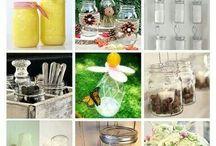 Mason jar love / fun ways to use mason jars