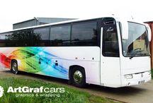 Kolorowy Autobus / Zdjęcia z realizacji oklejania autobusu w niecodziennych kolorach !