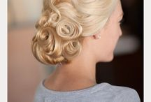 pin curl style