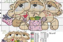 Cross Stitch - Fizzy Moon Bear