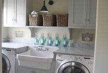 Beautiful Rooms-- Laundry and Bathrooms / Pretty laundry rooms and bathrooms / by Kara Cook (Creations by Kara)