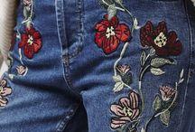 Calca jeans borda