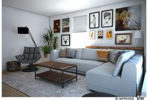 """_Interieurontwerp woonkamer """"Inspired by earth colors"""" / www.woonmakers.nl"""