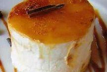 flan de nata y queso