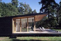 moderne Hütten