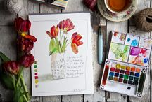 A Year To Inspire Sketchbook / A 52 week project by Stephanie and Annetta