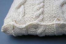 Knit and Crochet Pillows