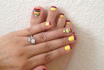 Arte de uñas de pies