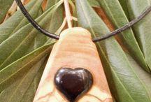Jewellery olive wood
