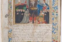 Les enluminures / Une sélection de manuscrits enluminés de l'époque médiévale conservés aux Archives nationales.