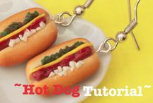 tutorials: food (hamburgers & hotdogs) / Tutorials for miniature hamburgers, hotdogs, and accompanying side dishes