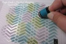 Coloring embossing stencils