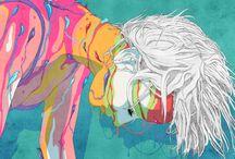 Art for inspiration. / lovely colors & ideas in Art.