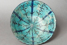 """Water Weed Design /  For a short period in ealy 13 th centruy the """"water weed """" design became a popular motif in Kashan"""
