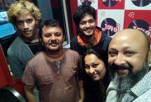 Rishabh raj at fever fm studio doing voice over as laxman and mr sunil shetty as bajrangbali