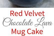 Red valvet mug cake
