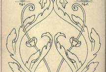 Ornamenty, písmo