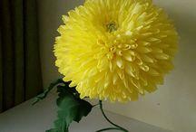 интерьерные цветы из бумаги