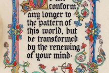 Gothic Illuminated Scroll