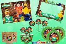 Susam Sokağı - Sesame Street Doğum Günü Ürünleri / Susam Sokağı - Sesame Street Kişiye Özel Parti Malzemeleri