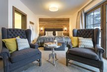 Chalet Ariane / Luxury chalet apartment with 3 ensuite bedrooms, lounge, dining area and access to a large spa area.