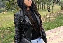 Winter Fashion / #winter #fashion #women #ladies #jackets #cap #boots #coat #winters