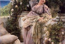 LAWRENCE ALMA -TADEMA-1836-1912-BÉLGICA / Nació en DRONRIJP, pueblo frisón del municipio de Menameradiel, el 8 de enero de 1836-fue un pintor neerlandés neoclasista de la época victoriana, formado en Bélgica y establecido en Inglaterra desde 1870-conocido por sus suntuosos cuadros inspirados en el mundo antiguo.