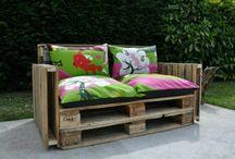 Garden furniture with Pallets / Ideals to make my own Garden furniture with pallets
