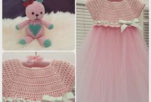 baby booties and dresses