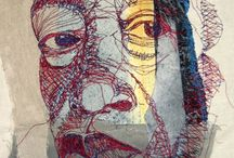 Stitched faces & figures
