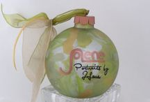 Logo on Glass Ornament