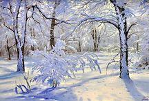 Зима в Живописи / Winter painting / Зимне-снежная живопись...