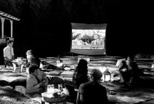Backyard Movie Night / Host a movie night under the stars. Movie screens, popcorn, blankets, family and friends. Host an unforgettable party.  #movie #summer #backyard / by Vaughn Neff