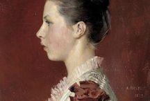 Women's portrait. Painting / Женский портрет. Живопись.